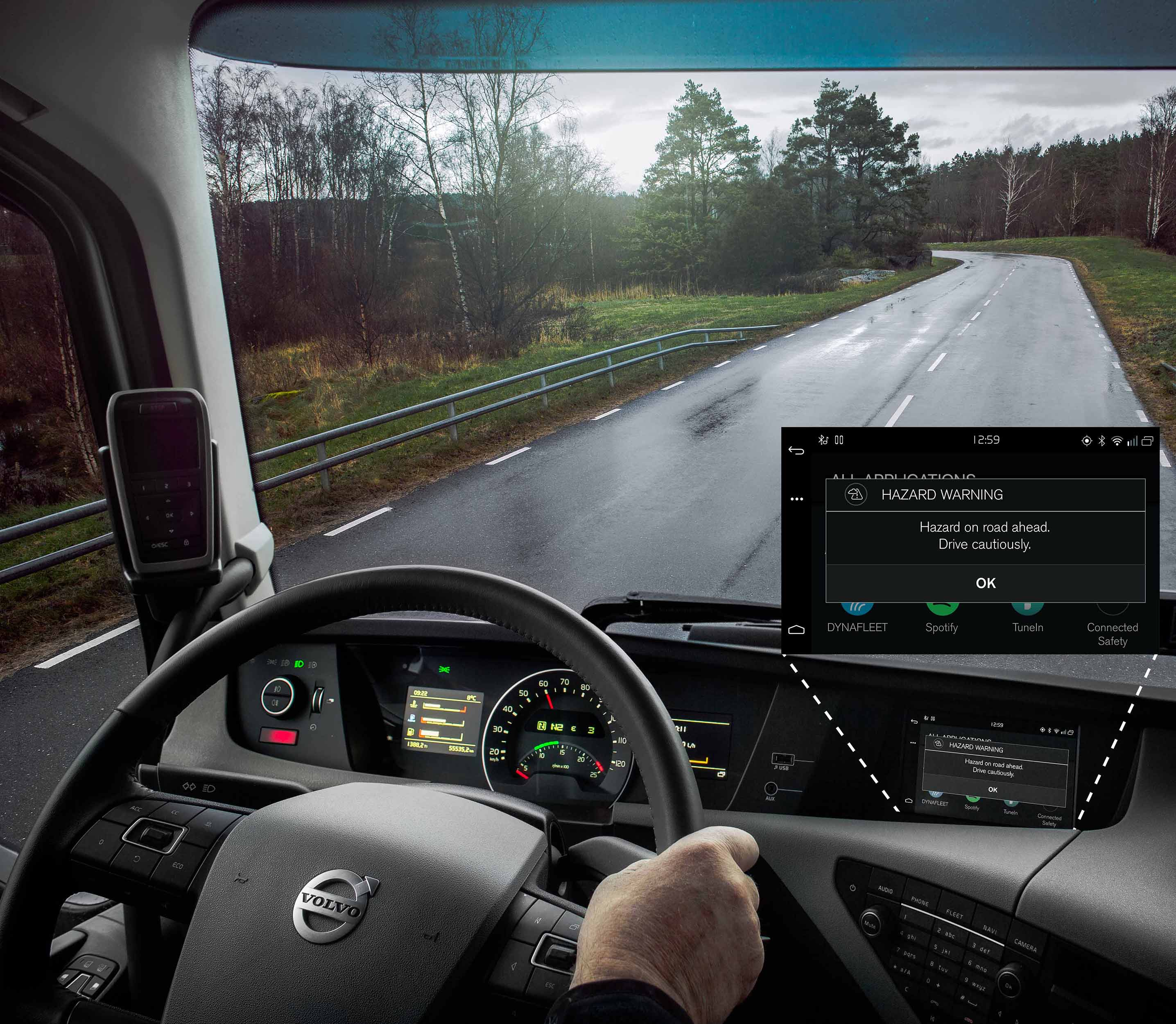 In Norway and Sweden, Volvo cars and Volvo trucks with Connected Safety activated can now alert each other to risky situations on the road