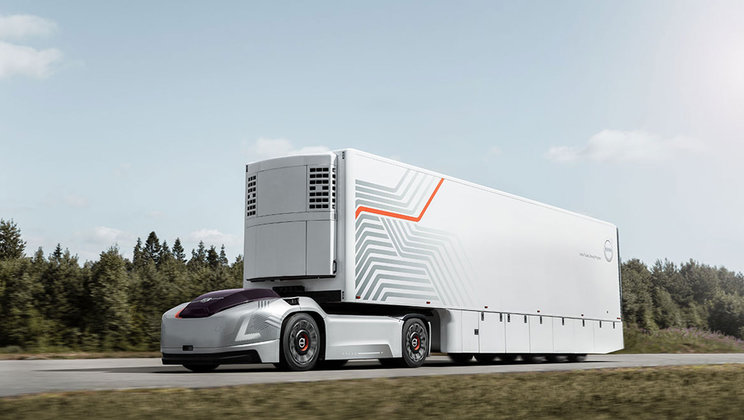Volvo Trucks Presents Future Transport Solution With Autonomous Electric Vehicles
