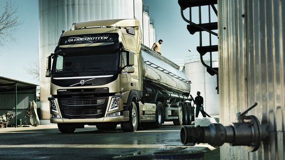 The Volvo FM, equipped for tanker transportation