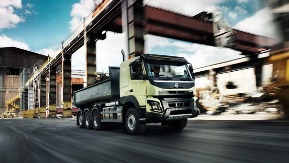 Volvo FMX for construction transport