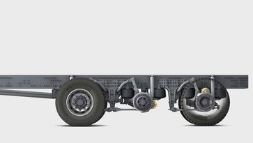 Volvo FMX with high ground clearance