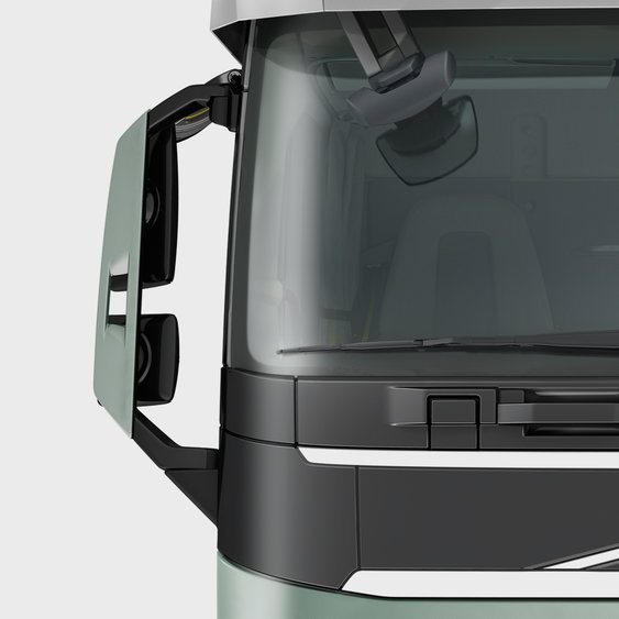 The exterior mirrors on the Volvo FH