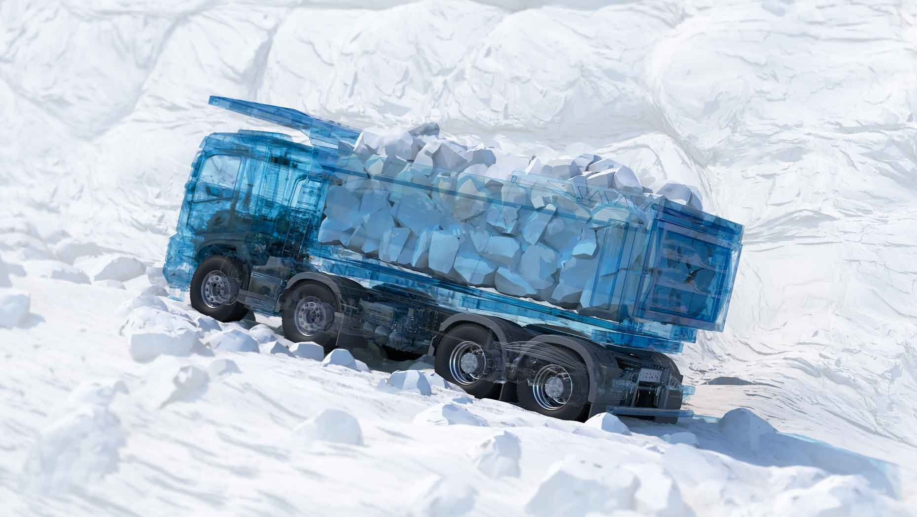 The key addition to the new heavy Volvo trucks is a new drive axle, which has been developed in-house in conjunction with Volvo Construction Equipment.
