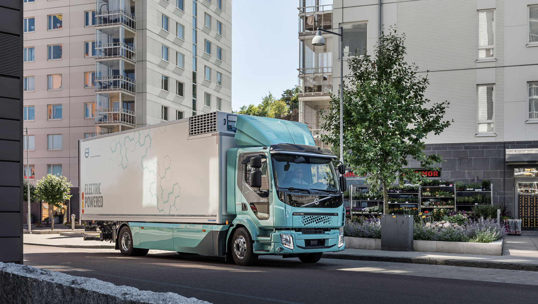 The Volvo FL Electric, Volvo's first all-electric vehicle, is developed for distribution, refuse handling and other urban transport applications.