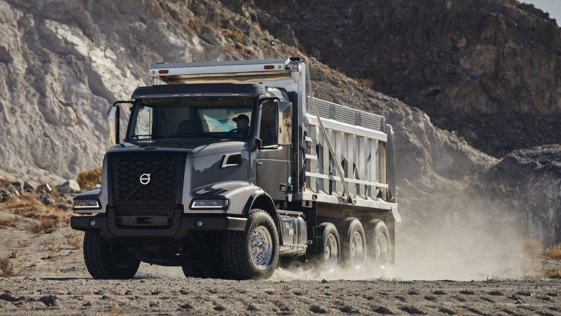 Volvo trucks global VHD dump with water