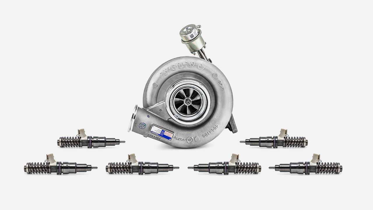 Обзорный экстра-комплект для капитального ремонта двигателей грузовых автомобилей Volvo