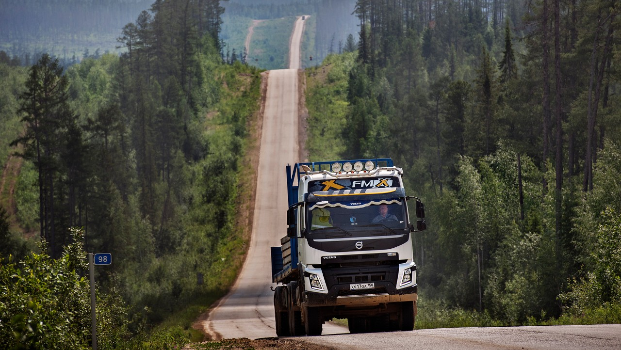 Driving through Yakutia