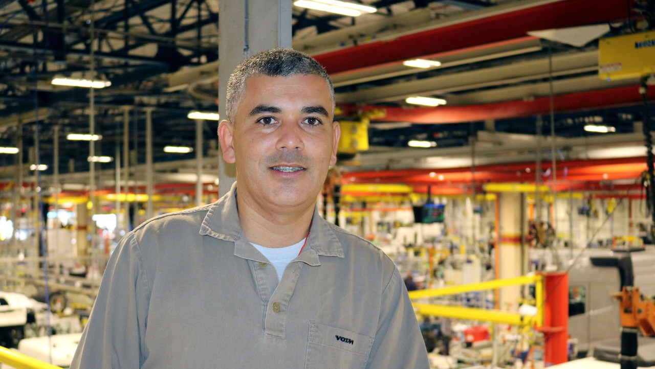 A man in a factory environment