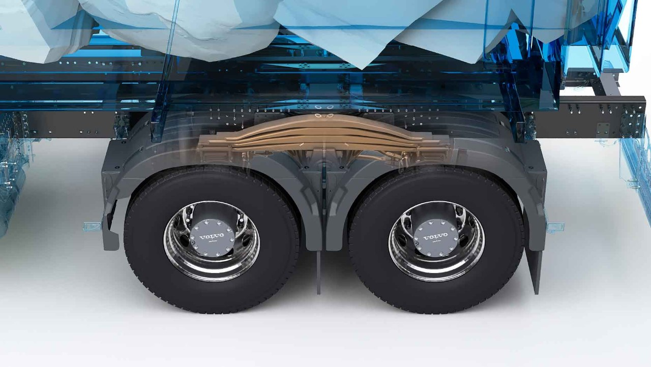 3D graphic illustration of new rear suspension