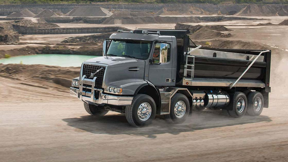 Volvo trucks global VHD dump with water