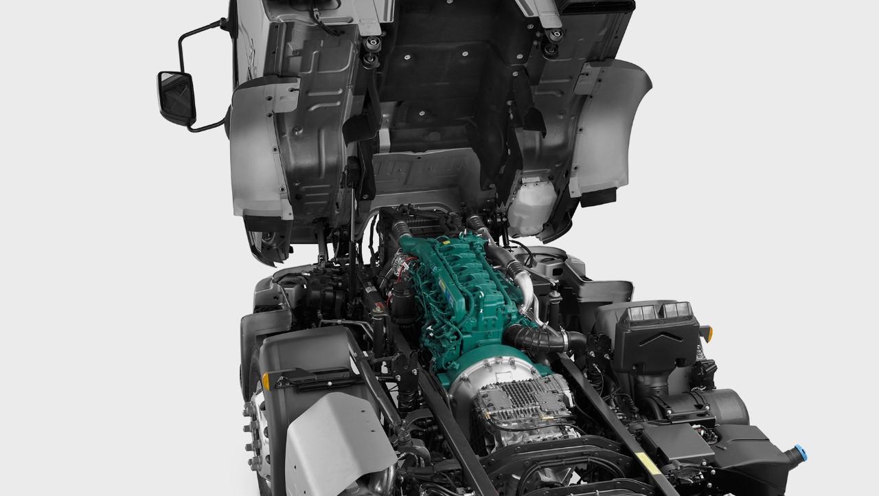 Volvo VM tilted cab